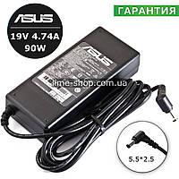 Блок живлення зарядний пристрiй 19V 4.74A 90W для ноутбука Asus F6Ve