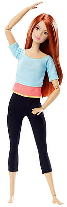 Кукла Барби рыжая Безграничные движения ЙогаBarbie Made to Move Light Blue Top Doll, фото 2