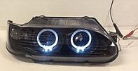 Передние фары ВАЗ 2113-2115 (Черные с ангельскими глазками)
