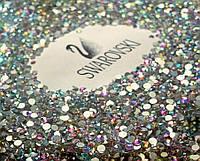 Стразы Swarovski crystal AB (Aurora Borealis), SS8 (100 шт)для педикюра в баночке