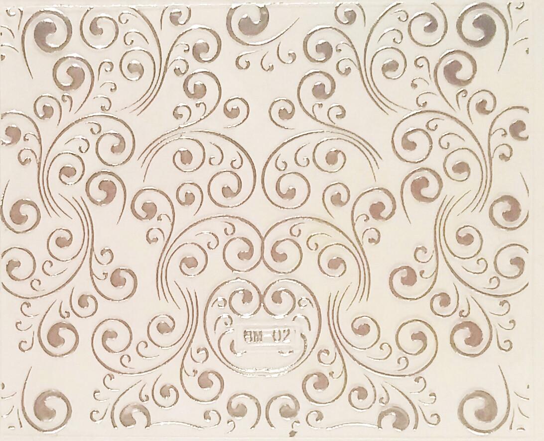 Набор наклеек для дизайна ногтей с эффектом литья, 15%