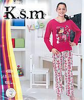 """Пижама детская интерлок 4-14 лет """"K.s.m Kids"""" Турция"""