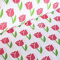 Хлопковая ткань Тюльпаны