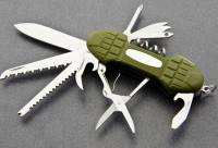 Многофункциональный нож Тотем KT6011PR для рыбалки складной ножичек