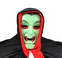 Маска вампира с капюшоном, светонакопительная, Маска Дракулы