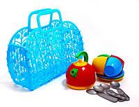 Детская посудка в корзинке-сумке ТехноК 1608