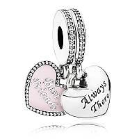 Подвеска-шарм «Лучшие друзья» из серебра Pandora, 791950CZ