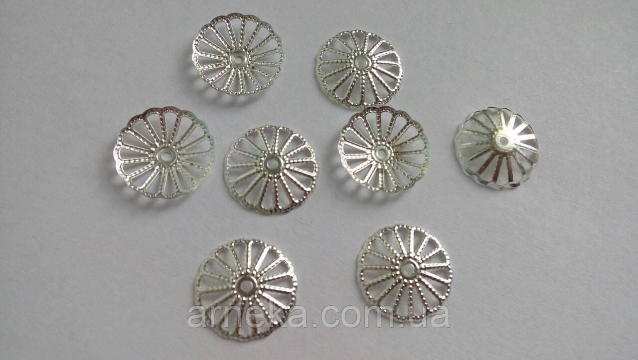 Обниматель Колесо 1,5 см Серебро