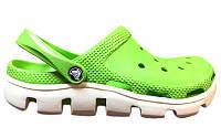 Резиновые кроксы мужские Crocs Duet Sport Clog, кроксы зеленые