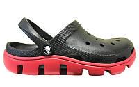 Резиновые кроксы мужские Crocs Duet Sport Clog, кроксы черные