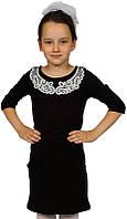 Красивое стильное школьное платье для девочки р.34,38