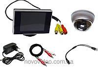 Видеонаблюдение в подъезд - камера антивандальная с монитором
