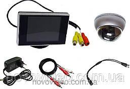 Видеонаблюдение в подъезд - камера антивандальная и монитор