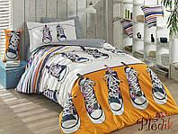 Комплект постельного белья 160х220 HOBBY Poplin Layla желтый