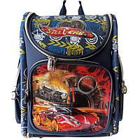 Школьный ранец для мальчиков. Ортопедический. ранец. Трансформер (ранец расстегивается полностью). Код: КДН556, фото 1