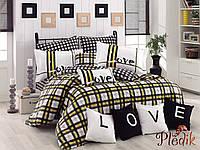 Комплект постельного белья 160х220 HOBBY Poplin Love Code желтый