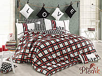Комплект постельного белья 160х220 HOBBY Poplin Love Code красный