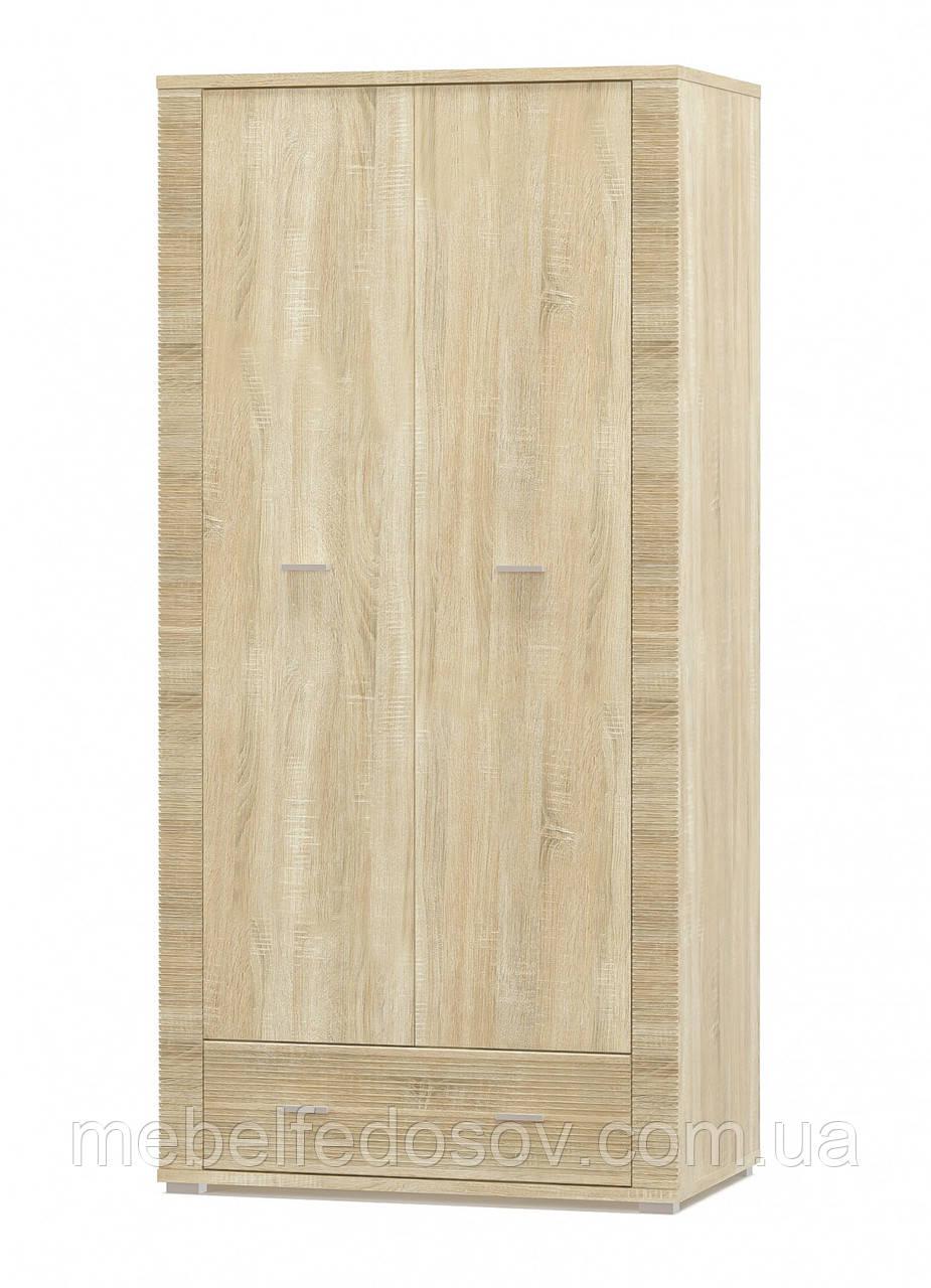 Шкаф 2Д + 1 Ш Гресс (Мебель-Сервис)  928х553х1920мм дуб самоа