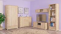 Гресс набор мебели для гостиной №1 (Мебель-Сервис) дуб самоа