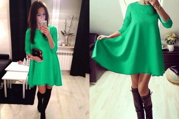 4cf954ac946 Трикотажное платье расширенное к низу