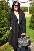 Женский батальный кашемировый кардиган с капюшоном, фото 1