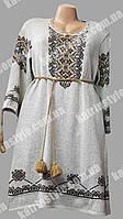 Женская туника- вышиванка вязанная