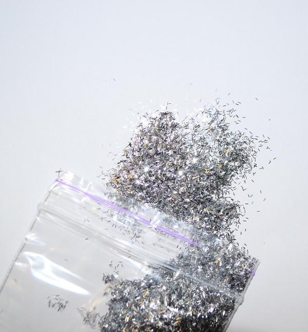 Продолговатый блеск для жидких обоев - серебро 10 грамм