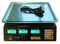 Весы Cristal 40 кг 6V (Цена деление 2 грамма)