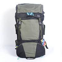 Туристичний рюкзак Wallaby на 75 літрів оливковий, фото 1