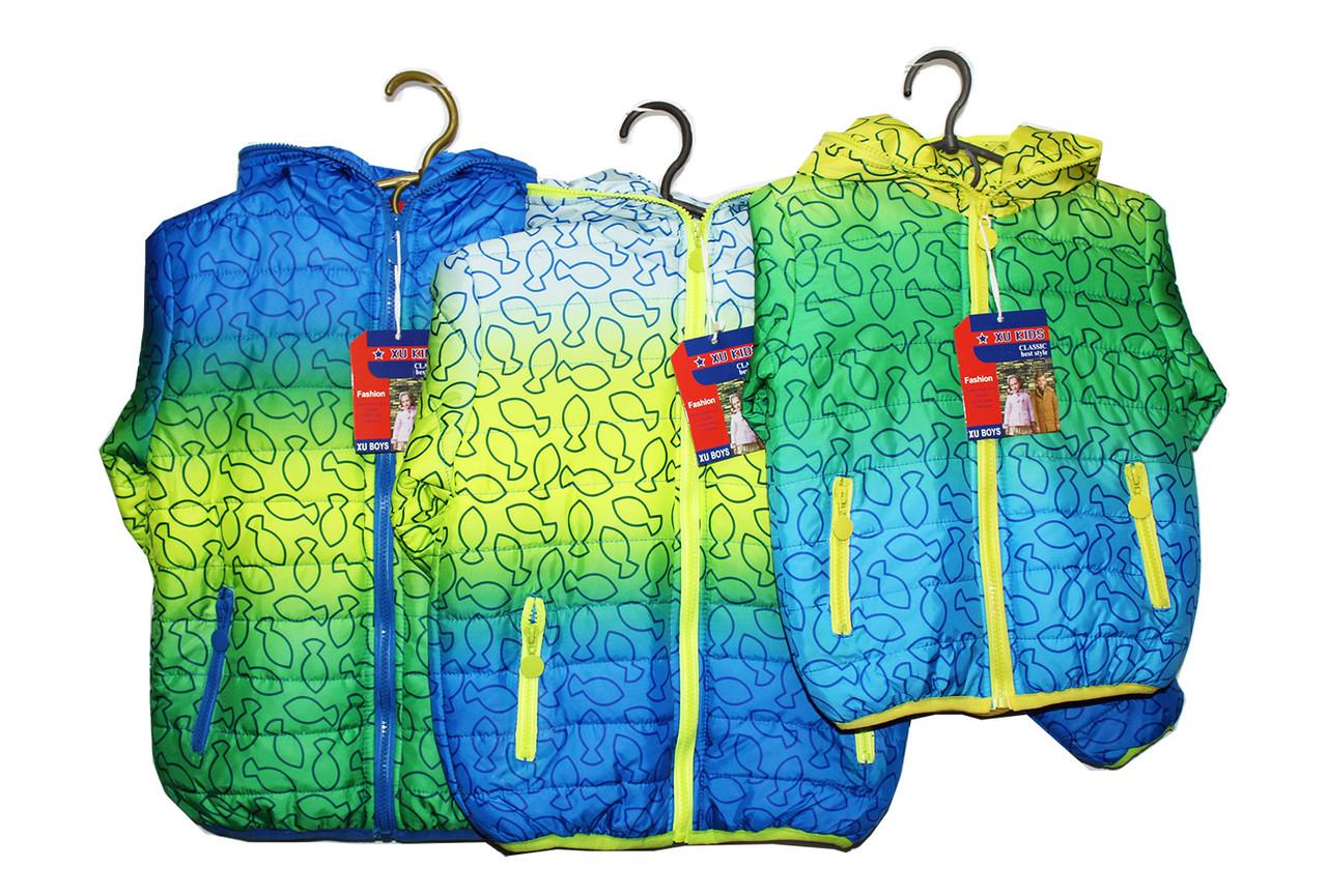 Куртка детская осенняя на флисовой подкладке мальчику.  Р - 99