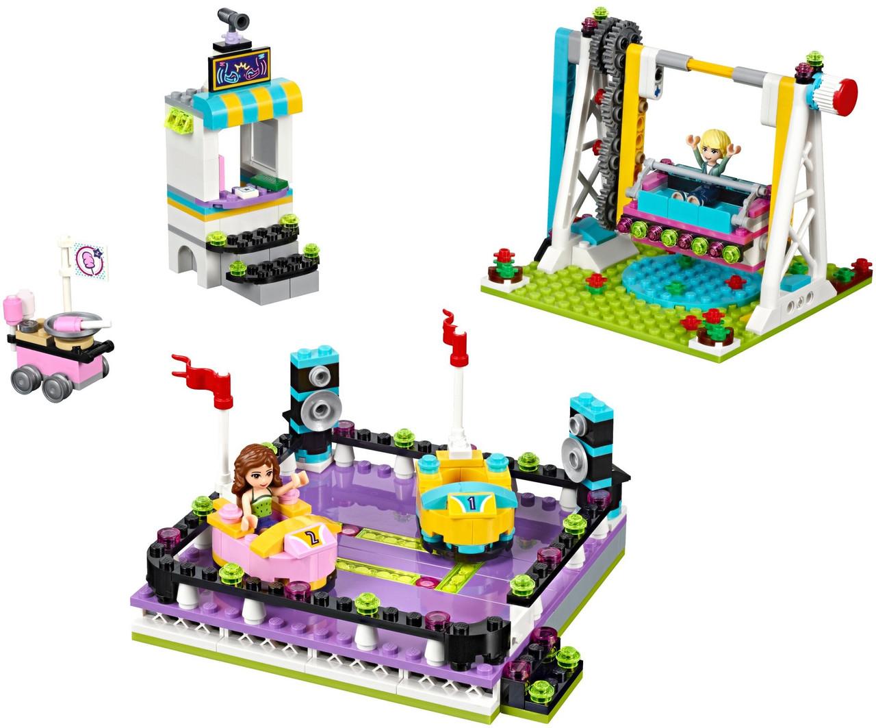 Lego парк развлечений автодром Friends Amusement Park Bumper Cars Set 41133 Lego 04543