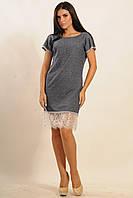 "Платье ""Хлоя"" ПЛ 34.1-40/16; цвета: джинс | серый меланж,"