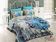 Комплект постельного белья 200х220 HOBBY 3D Poplin Cristina голубой