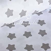 ✁ Відрізи тканини Сірі прянички на білому