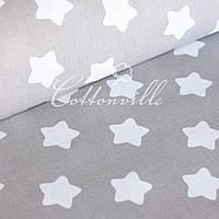 ✁ Відрізи тканини Білі прянички на сірому