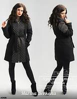Кашемировое пальто зимнее женское со съёмным капюшоном от производителя