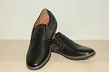 Туфли мужские черные 40-45 р Meko Melo арт 70-01.