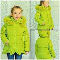 Яркая  стильная зимняя куртка  Бант