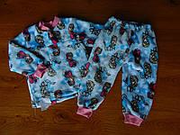 """Детская махровая пижама для девочек """"Frozen"""", рост от 86 до 140 см"""