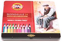 Карандаши цветные акварельные Mondeluz 24 цвета KOH-I-NOOR