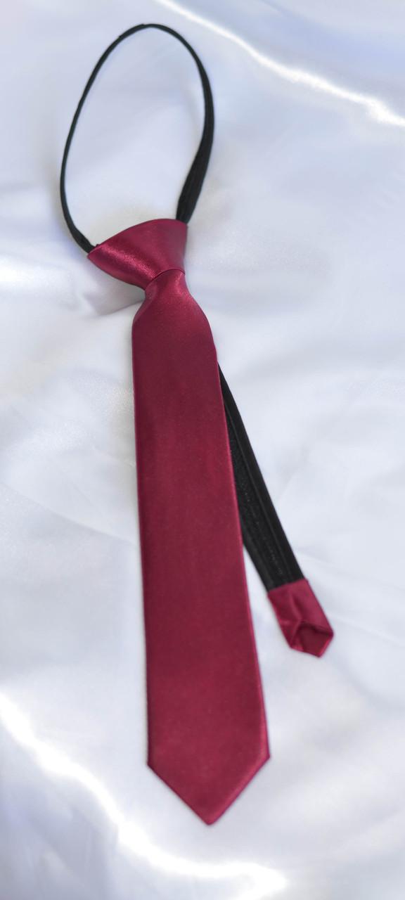 Детский галстук Малиновый