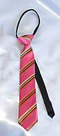Детский галстук Розовый в полоску