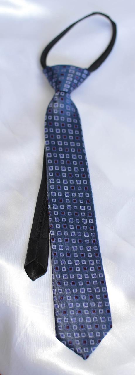 Детский галстук Синий