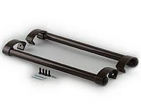 Ручка дверная прямая 500 мм, коричневая, RAL 8019., фото 1