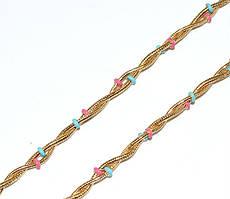 Цепочка фирмы Xuping, цвет: позолота. Длинна 46-49 см, ширина 3 мм.