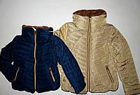 Курточка для девочек на меховой подкладке F&D 6-8-10-12-14-16 лет