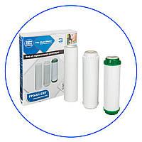 Комплект сменных картриджей для систем под мойку и систем обратного осмоса Aquafilter FP3-K1-CRT