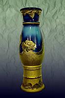 Напольная ваза волна кобальт золото