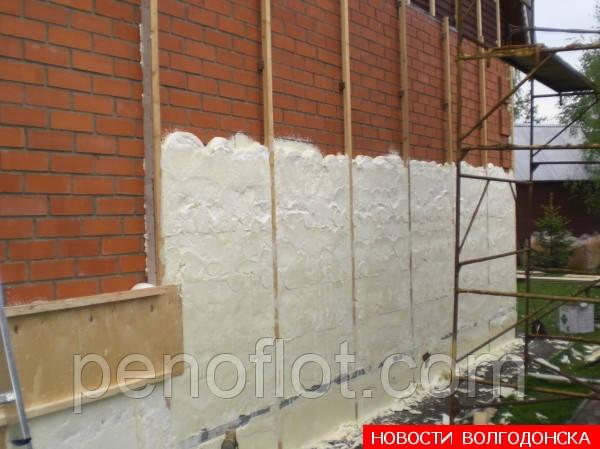 Утепление наружных стен зданий пенополиуретаном
