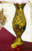 Ваза напольная Глория золото